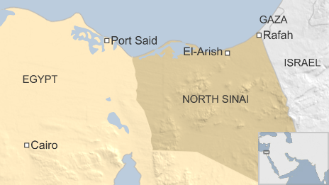 Map of North Sinai