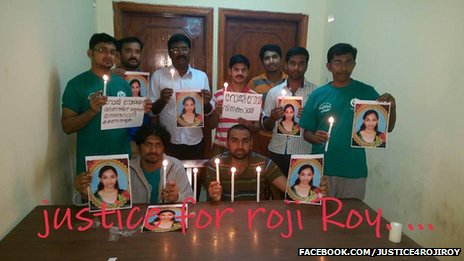 Roji Roy campaigners