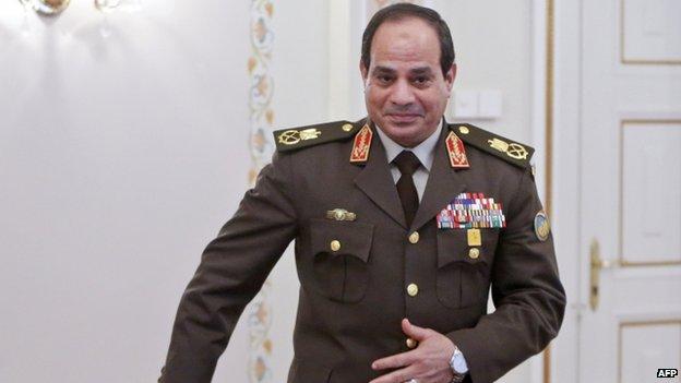 Egyptian leader Abdul Fattah al-Sisi (February 2014)