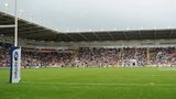 Blackpool Bloomfield Road stadium hosting rugby league