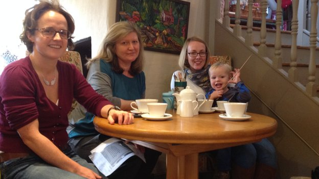 Surrey cafe owner invites mothers to talk & said she wants their custom