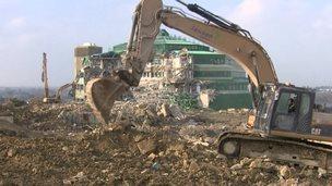 Oakley GCHQ being demolished