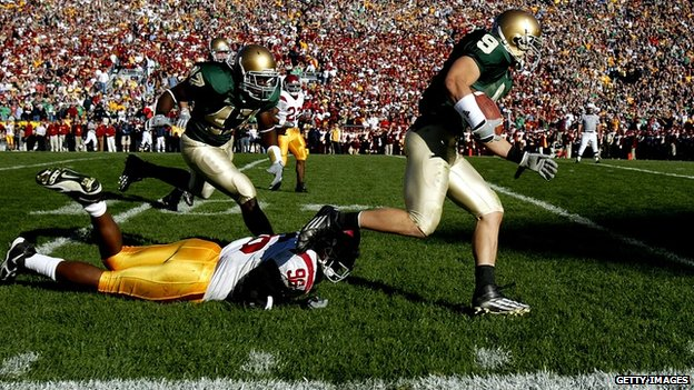 Notre Dame play against USC in 2005.