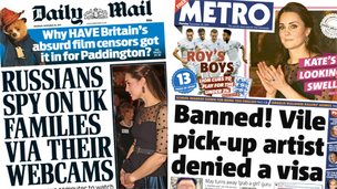 Composite image of Mail and Metro front pages
