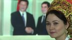 Turkmen woman in traditional dress