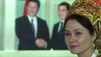 Turkmen woman in traditional dress