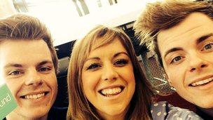 Jenny with Niki and Sammy