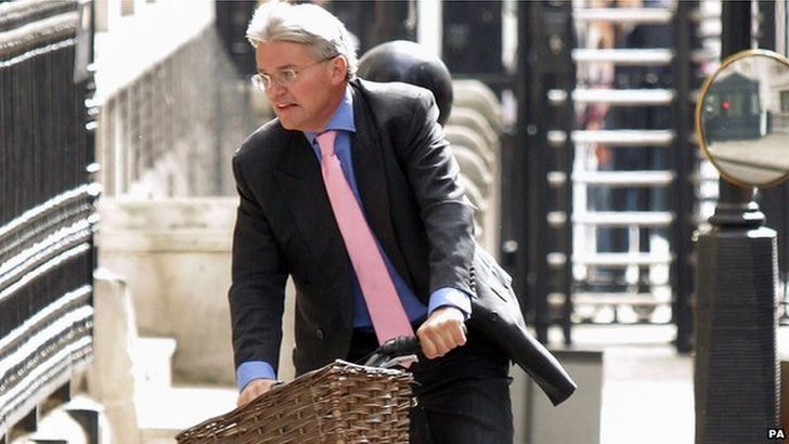Andrew Mitchell on his bike