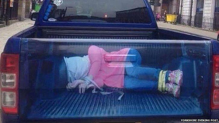'Kidnap' image on van