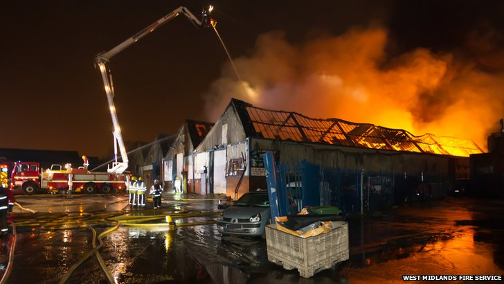 The blaze in Moxley