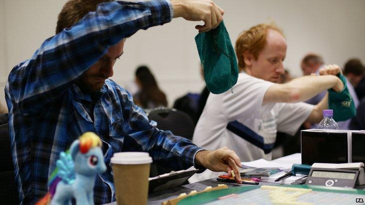 Scrabble competitors