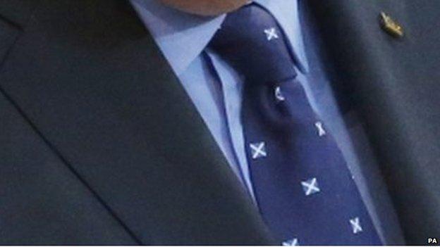 Alex Salmond's tie