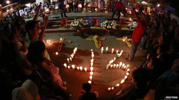 A demonstration in Guerrero state for the 43 missing students