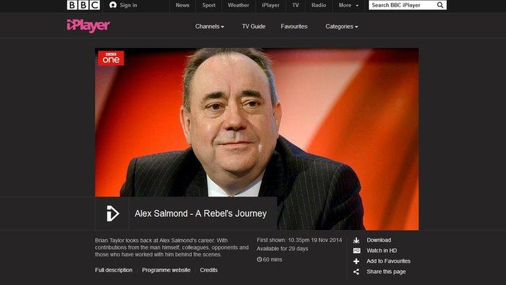 Brian Taylor's documentary on Alex Salmond