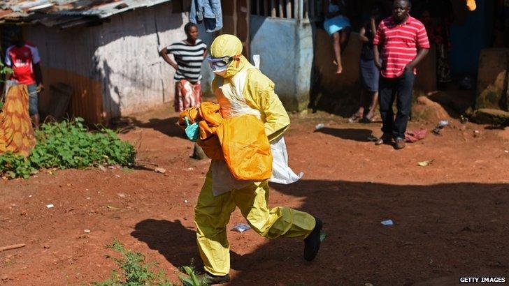 Health worker in Sierra Leonne