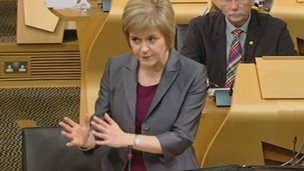 Newly elected First Minister Nicola Sturgeon