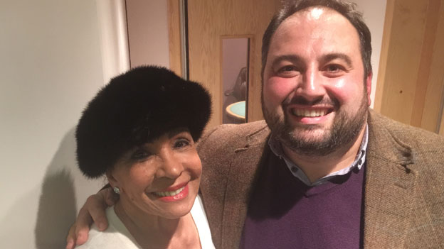 Dame Shirley with Wynne Evans