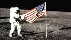 US flag on Moon