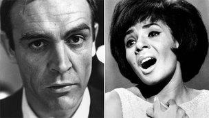 Sean Connery and Shirley Bassey back in 1964