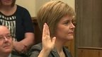 Nicola Sturgeon sworn in as Scotland's First Minister