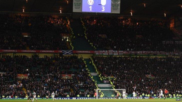 Scotland vs England fans