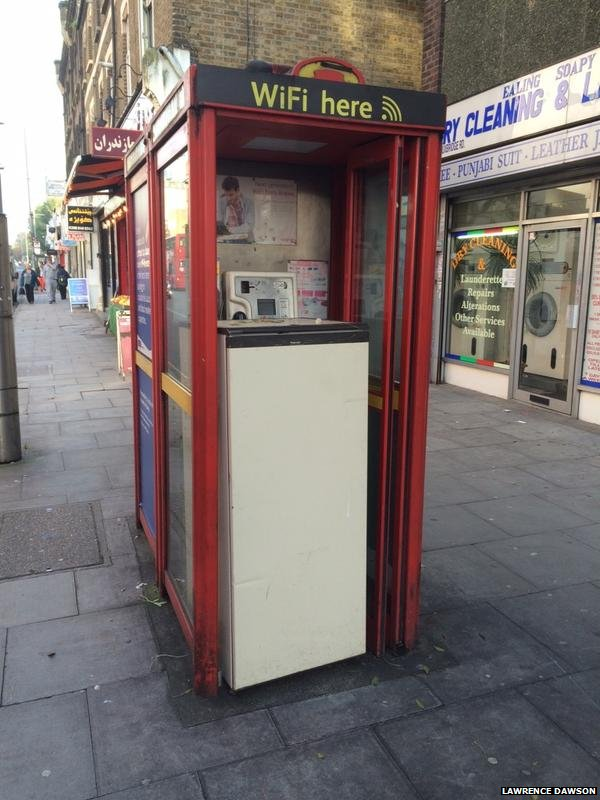Fridge in phone box