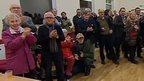 People inside Moorland village hall