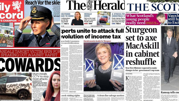 Daily Record, The Herald. The Scotsman