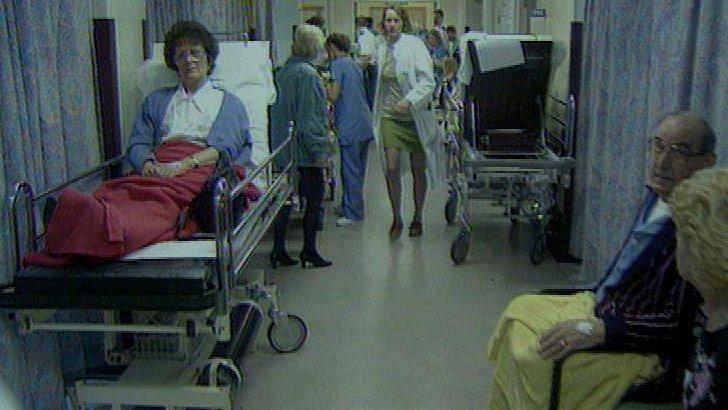 Busy hospital ward