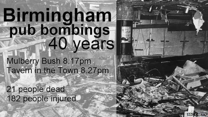 Birmingham pub bombings in 1974