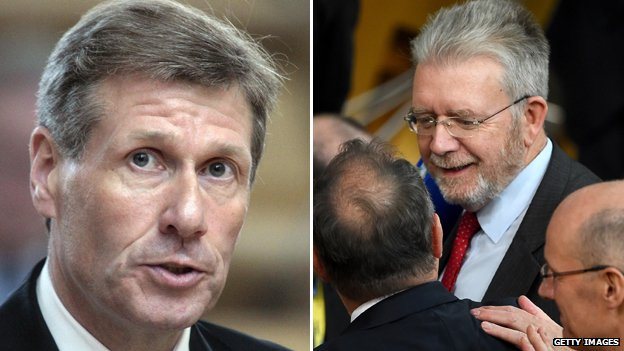 Kenny MacAskill (left) and Mike Russell