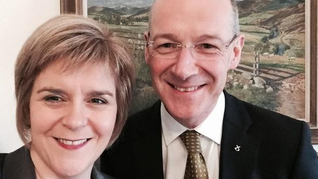 Nicola Sturgeon and John Swinney