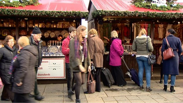 Edinburgh's Christmas market has opened