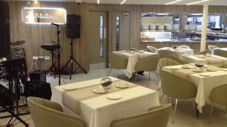 Mulberry Restaurant being set for Sally's tea party
