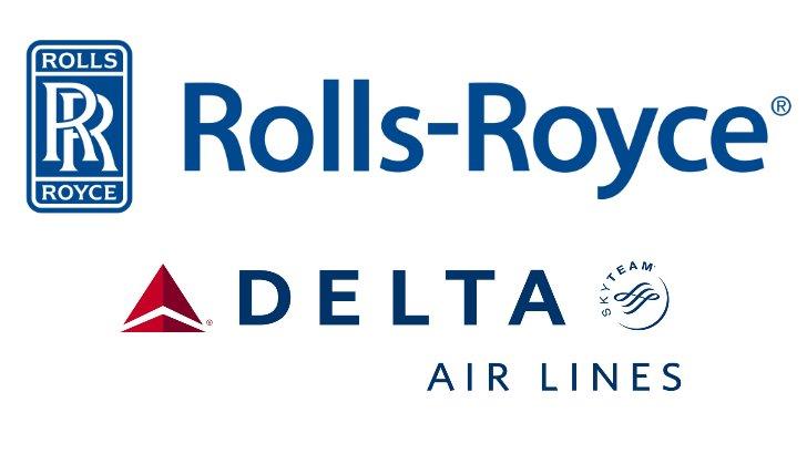 Rolls-Royce and Delta logos