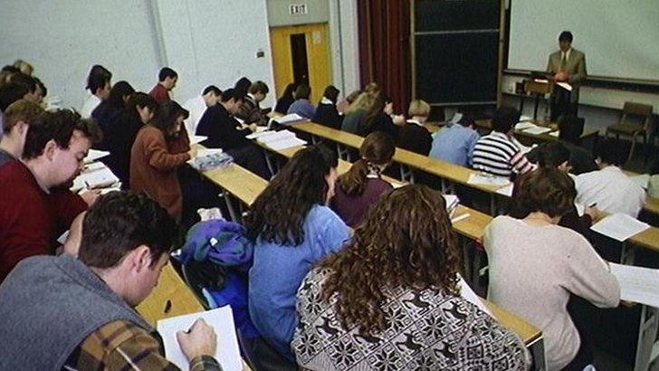 University lecture 1990s