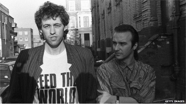 Bob Geldof and Midge Ure in 1984