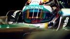 Lewis Hamilton in practice one at Abu Dhabi