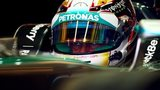 Lewis Hamilton in practice one at Abu Dhabi