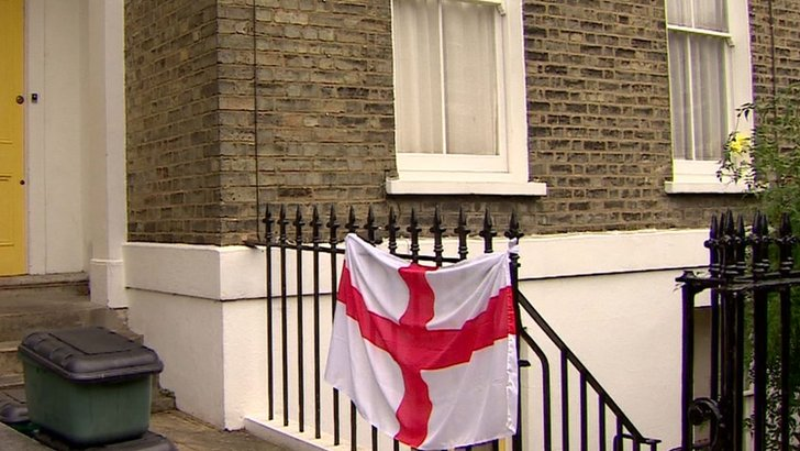 Home of Emily Thornberry with England flag
