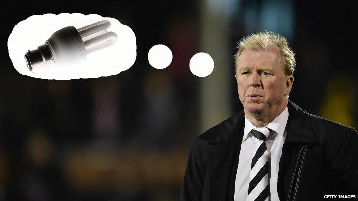 Steve McClaren lightbulb mock-up