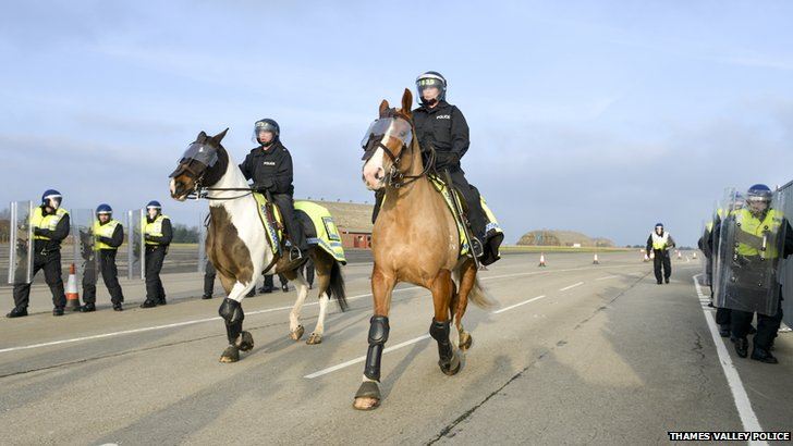 Mounted police training