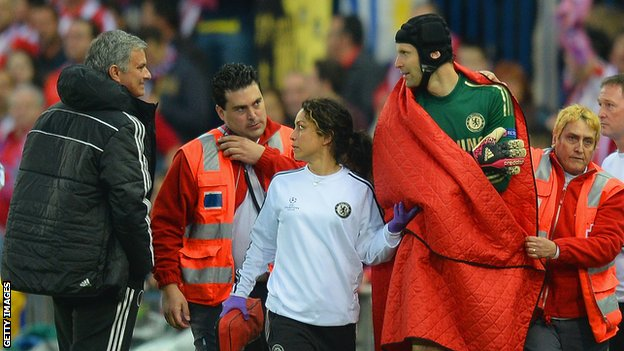 Jose Mourinho and Petr Cech