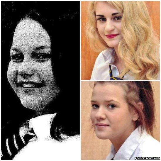 Annalise, Nicola and Samantha