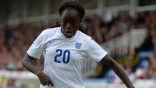 Eniola Aluko with possession
