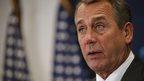 Speaker of the House John Boehner appeared in Washington, DC, on 18 November 2014