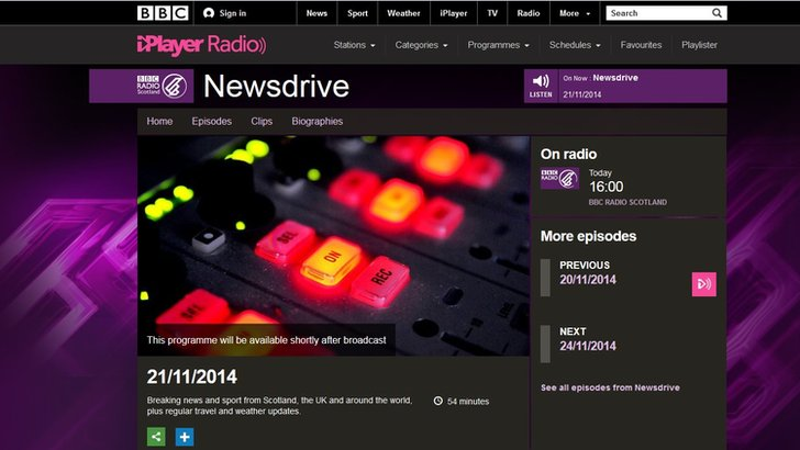 BBC Radio Scotland's Newsdrive
