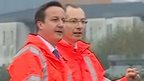 David Cameron and Mark Langman, route managing director for Network Rail Wales