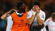 Liverpool's Luis Suarez & Kolo Toure