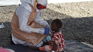 Health worker in Guinea on 15 November 2014